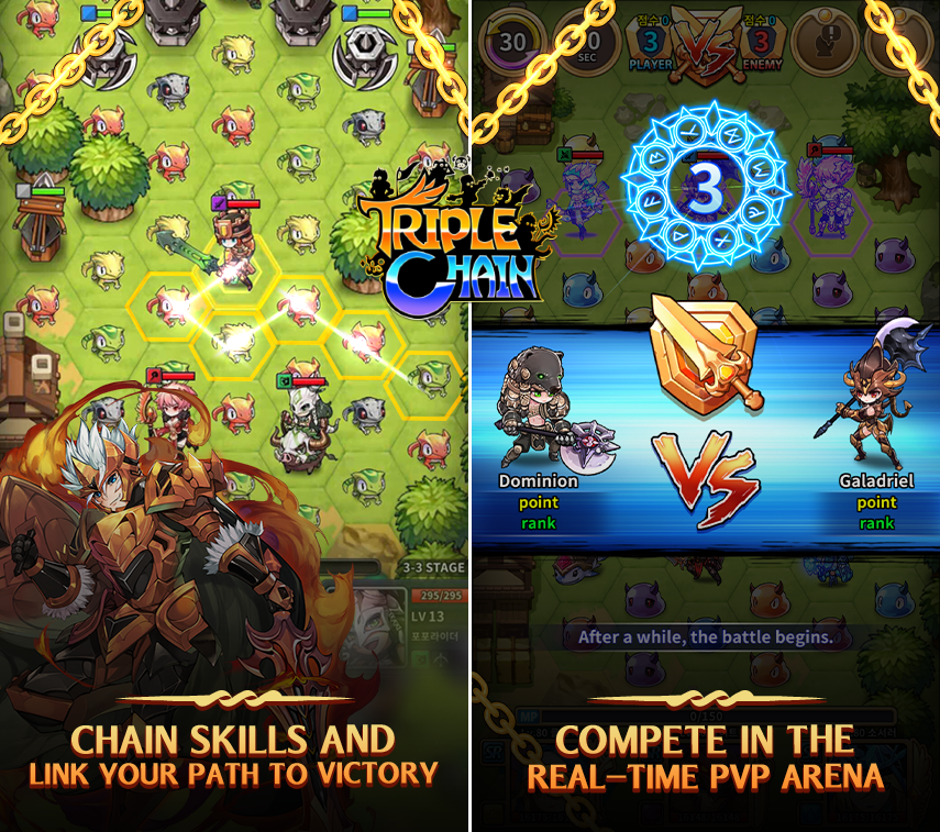 TripleChain Mobile Strategy & Puzzle RPG