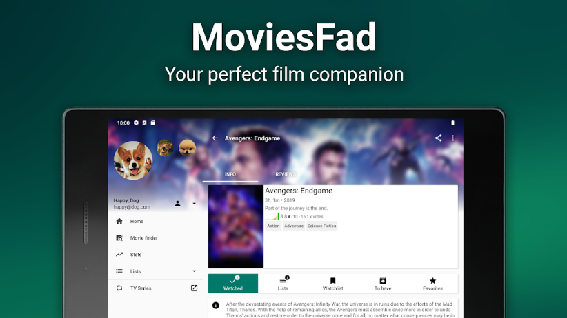 MoviesFad for PC