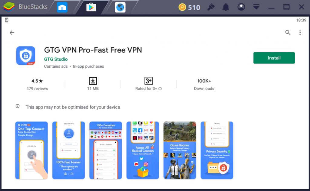 GTG VPN Pro for PC