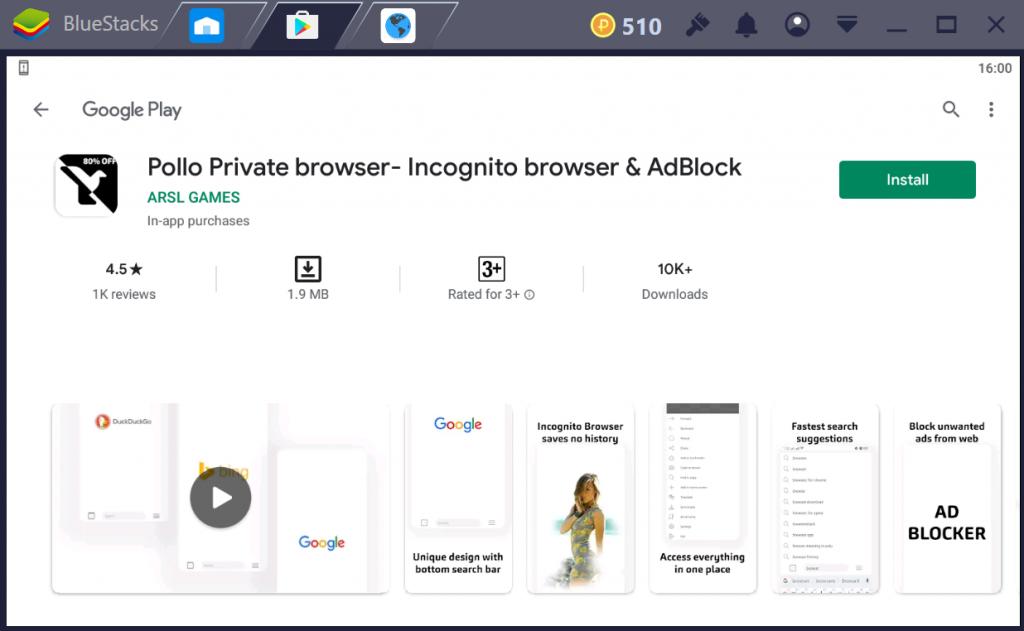 Pollo Private Browser for PC