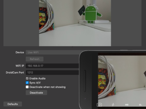 DroidCam OBS for PC