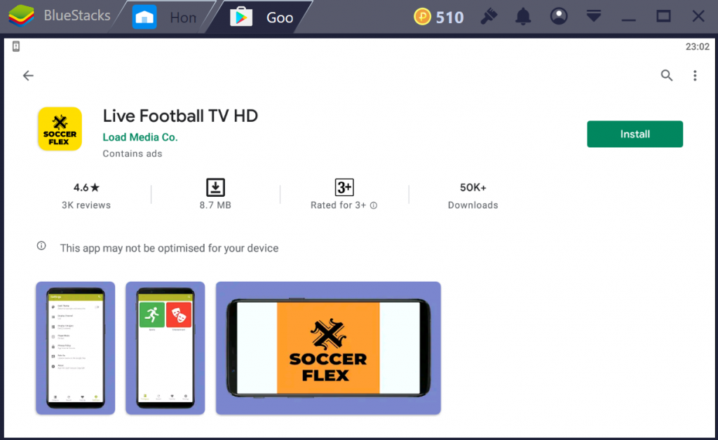 Live Football TV HD on PC
